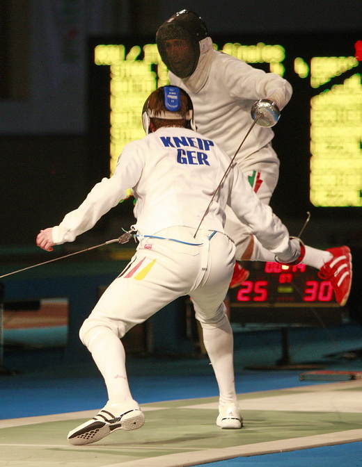 Germany fell to Hungary in the Men's Team Epee event.  (c) 2009 Serge Timacheff - Fencingphotos.com