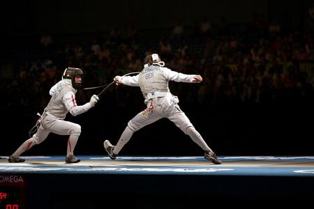 Yuki Ota vs. Benjamin Kleibrink 2008 Olympics S.Timacheff/FencingPhotos.com